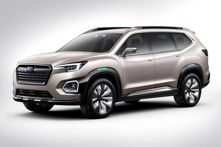 Subaru şirkəti Viziv-7 adlı yeddi yerlik krossoverin konseptini təqdim edib. Prototip Los-Anceles avtosalonunda təqdim edilib və Yaponiya brendinin ən böyük avtomobilidir. Avtomobil gələcəkdə seriyalı versiya alacaq. Onun 2018-ci ildə işıq üzü görəcəyi gözlənilir. Yenilik Subaru model sırasında Tribeca-nın yerini tutacaq.