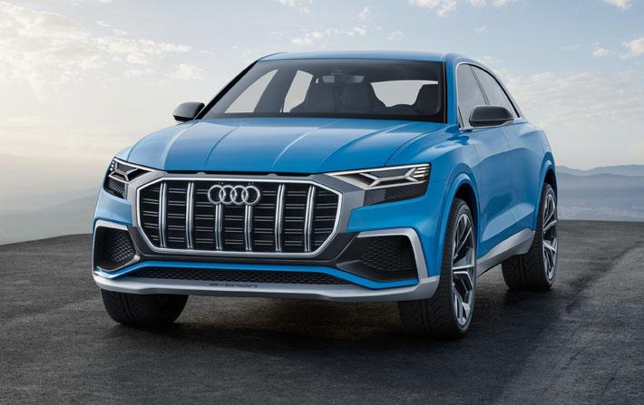 Audi şirkəti yeni konseptual krossover Q8-in sirrini açıb. Avtomobil Detroyt avtosalonunda debüt edəcək. Audi-nin mətbuat xidmətinin verdiyi məlumata görə, yenilik gələn il seriyalı versiya alacaq, 2019-cu ildə isə satışa çıxarılacaq.