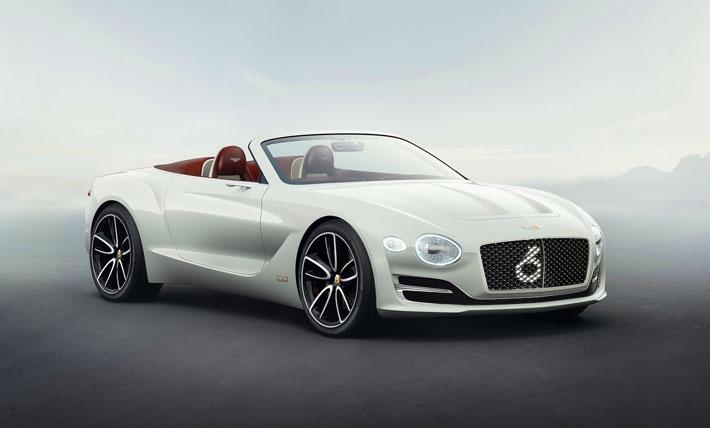 Cenevrə 2017 motor-şousunda konseptual elektrik rodsteri Bentley EXP 12 Speed 6e-nin təqdimatı olub. Bu modelin salonunun işlənməsi üçün britaniyalılar təbii dəridən, misdən və ağacdan olan dekorativ əlavələrdən istifadə ediblər.