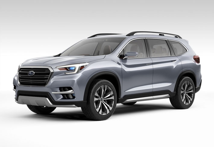 Subaru şirkəti Nyu-York avtoşousunda adını Ascent-ə dəyişmiş konsept Viziv-7-nin təkmilləşdirilmiş versiyasını təqdim edib. Həmçinin 7-yerlik krossoverin seriyalı variantına da ad qoyulacaq.