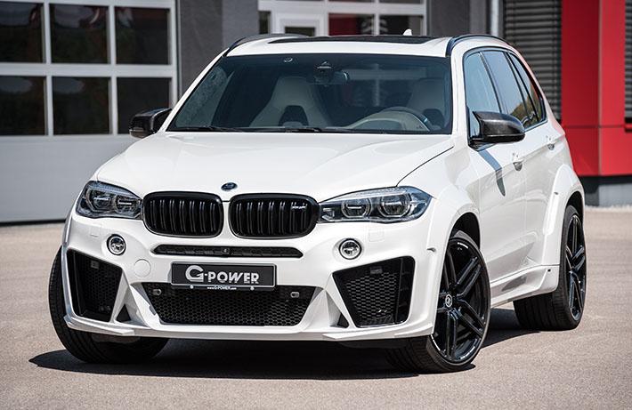 Təkmilləşdirilmiş BMW X5 M Almaniyanın G-Power atelyesində olub. Orada avtomobil 750 a.g. alıb. Bu avtomobil hətta standart variantda da çox güclü və cəld idi.