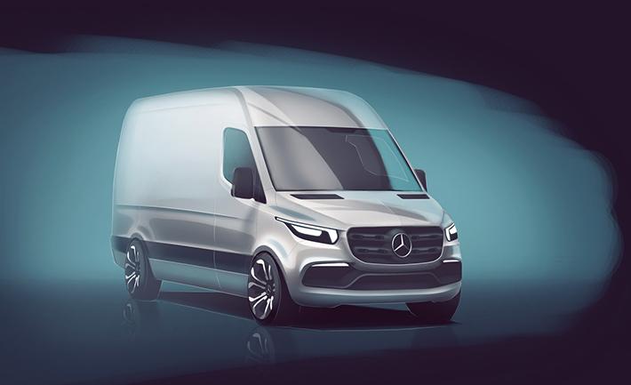 Mercedes-Benz şirkəti gələcək nəsil furqon Sprinterin ilk dizayn-sketçini nəşr edib. Model 2018-ci ildə Avropada, bir qədər sonra isə digər bazarlarda satışa çıxarılacaq.